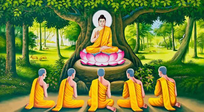 Hình tượng Đức Phật ngồi trên đài hoa sen