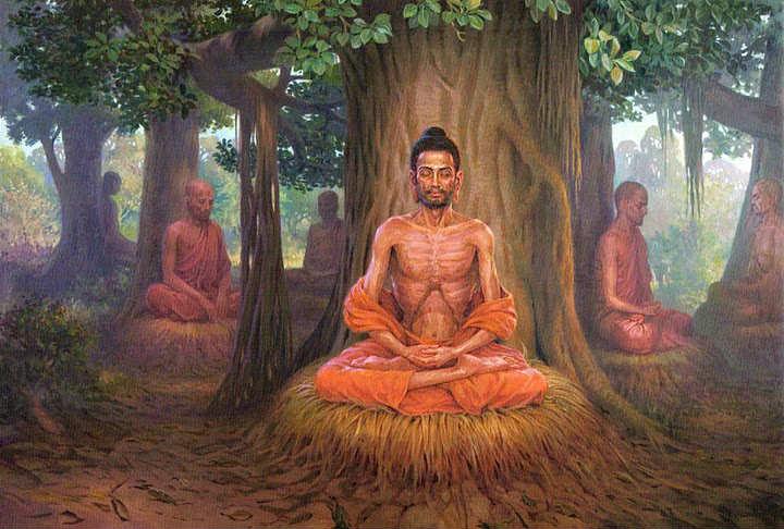 Đức Phật Thích Ca Mâu Ni Tu Khổ Hạnh.