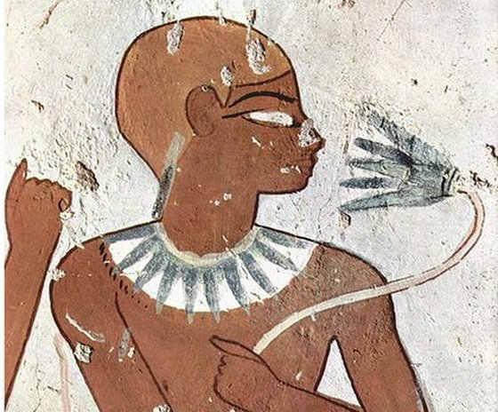 Biểu tượng Hoa Sen Xanh rất thông dụng trong Ai Cập cổ đại