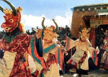 ngày lễ Gutor trừ tà ma của Tây Tạng