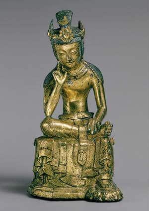 tượng bồ tát di lặc bằng đồng trong phật giáo thời kỳ đầu