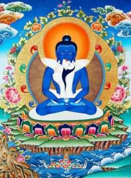 Biểu tượng Bồ tát Phổ Hiền trong phật giáo tây tạng có màu xanh đậm