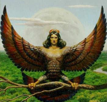 Harpy là sinh vật nửa người nửa chim trong thần thoại Hy Lạp và La Mã