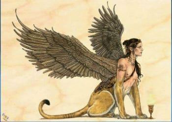 Nhân sư là một sinh vật thần thoại hiện diện trong cả văn hóa Hy Lạp và Ai Cập