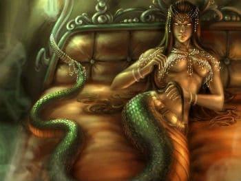 Theo thần thoại Hy Lạp Lamia là người tình của Thần Zeus