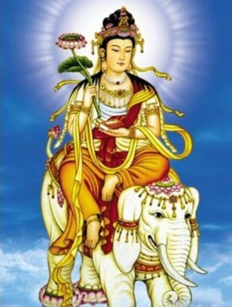 hình tượng Bồ tát Phổ Hiền cưỡi voi trắng